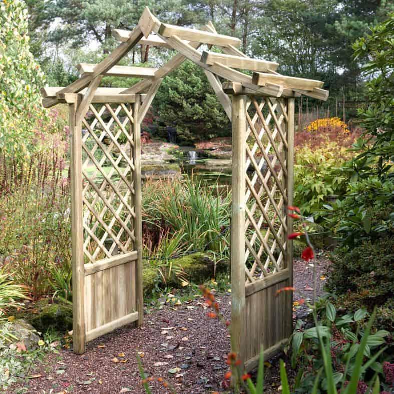 Blooma Elegant Wooden Garden Arch 2.34 x 1.76 x 0.94