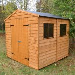+ Base: Blooma Overlap Wooden Shed with Plastic Roof