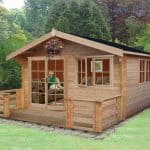 Shire Kinver Wooden Log Cabin with Terrace 12 x 12