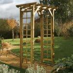 Rowlinson Square Top Wooden Garden Arch 2.2 x 1.5 x 0.9