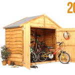 The BillyOh Extra Wide Bike Storage Shed Small