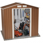 The BillyOh Sherwood Wood Grain Metal Shed