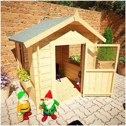 The Mad Dash Children's Wooden Log Cabin Playhouse
