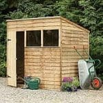 Pressure Treated Overlap Wooden Shed with Pent Roof