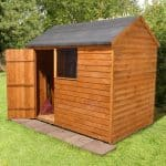 + Base: Overlap Wooden Shed with Reverse Roof 8 x 6