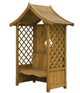 Blooma Elegant Wooden Arbour 2.34 x 1.76 x 0.94 Overall Appearance