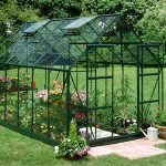 Palram Green Frame Horticultural Glass Double Door Greenhouse
