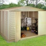 10′ x 10′ Duramax Woodbridge Steel Framed Vinyl Plastic Clad Metal Shed