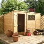 10′ x 6′ Single Door Tongue and Groove Pent Shed