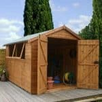 10′ x 8′ Double Door Shiplap Tongue and Groove Apex Shed