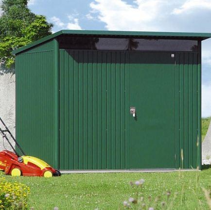 2.6m x 3.8m Biohort AvantGarde Metal Shed – Single Door Size XXL
