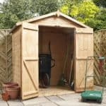 4′ x 6′ Double Door Mini Tongue and Groove Apex Shed