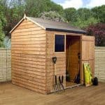 6′ x 6′ Reverse Overlap Apex Wooden Shed