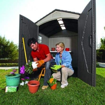 7′ x 7′ Lifetime Plastic Outdoor Storage Shed