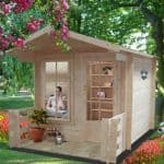 8′ x 8′ Shire Maulden Log Cabin with Veranda