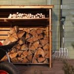 BillyOh Large Log Store with Kindling Shelf Front