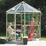 Vitavia Hera 4500 Silver Framed Hexagonal Greenhouse