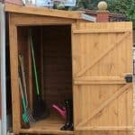 10′ x 3′ Traditional Pent Tool Store Shed