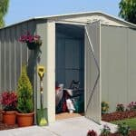 10′ x 8′ Shed Baron Grandale Apex Hinged Door Shed Metal Shed