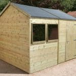 10′ x 8′ Shed-Plus Champion Heavy Duty Reverse Apex Single Door Shed