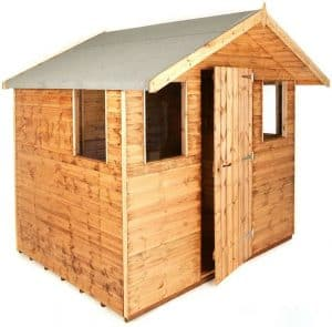 10' x 8' Traditional 8' Cabin Shed Unpainted