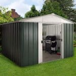 10′ x 8′ Yardmaster Green Metal Shed 108GEYZ