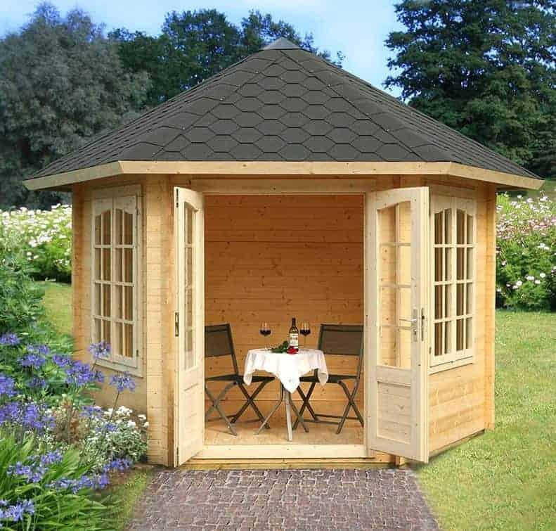 10′ x 10′ Palmako Hanna 34mm Log Cabin