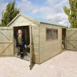 12′ x 8′ Shed-Plus Champion Heavy Duty Combination Double Door Shed
