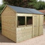 12′ x 8′ Shed-Plus Champion Heavy Duty Reverse Apex Double Door Shed