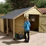 12′ x 8′ Shed-Plus Champion Heavy Duty Workshop with Logstore – Double Doors