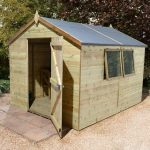 14′ x 8′ Shed-Plus Champion Heavy Duty Apex Single Door Shed