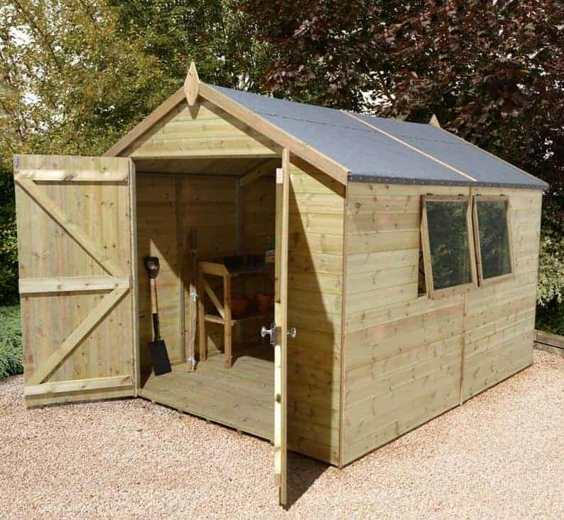 16′ x 10′ Shed-Plus Champion Heavy Duty Apex Double Door Shed