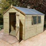 16′ x 10′ Shed-Plus Champion Heavy Duty Apex Single Door Shed
