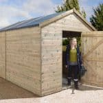 16′ x 8′ Shed-Plus Champion Heavy Duty Reverse Apex Double Door Shed