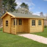 17′ x 10′ Palmako Susanna 44mm Log Cabin