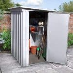 3'11 x 5'2 Yardmaster Pent Metal Shed 54PEZ+ With Floor Support Kit