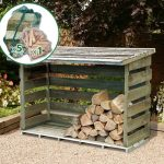 6′ x 2′ Store-Plus Large Log Store including Firewood Pack