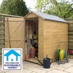 6 x 4 Tongue & Groove OSB Windowless Shed Sustainable Homes Compliant
