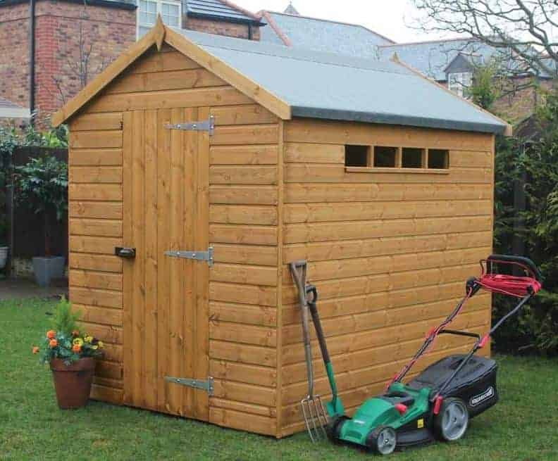 6′ x 4′ Traditional Apex Security Shed