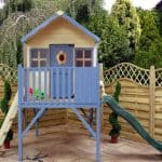 6′ x 6′ Windsor Honeysuckle Tower Playhouse with Slide
