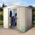 8′ x 6'6 Yardmaster Shiplap Metal Shed 86SL+ With Floor Support Kit