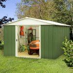 9'11 x 13′ Yardmaster Green Metal Shed 1013GEYZ+ With Floor Support Kit