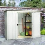 9'11 x 3'11 Yardmaster Pent Metal Shed 104PZ+ With Floor Support Kit