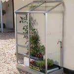 2 x 4 Vitavia Ida 900 Silver Lean-to Glass Greenhouse