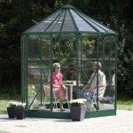 8 x 7 Vitavia Hera 4500 Green Glass Greenhouse