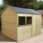 10′ x 6′ Shed-Plus Champion Heavy Duty Reverse Apex Single Door Shed