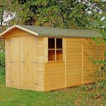 13'2 x 6'6 Shire Jersey Double Door Shed