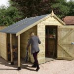 8′ x 6′ Shed-Plus Champion Heavy Duty Workshop with Logstore – Single Door