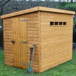 8′ x 6′ Traditional Pent Security Shed