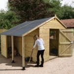 10′ x 6′ Shed-Plus Champion Heavy Duty Workshop with Logstore – Single Door